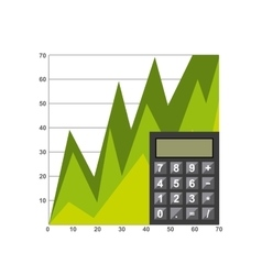 Growth economy statistics icons vector
