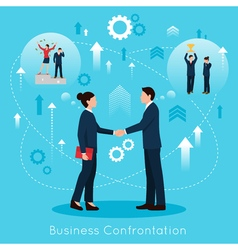 Constructive business confrontation flat vector