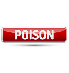 Poison - abstract beautiful button with text vector