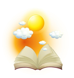 A book with a story about the sun vector