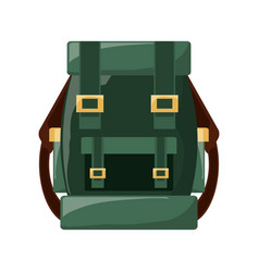Camping backpack isolated vector