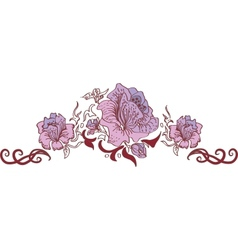 Flower style ornament vector