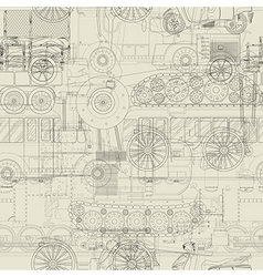 Seamless pattern vehicles design vector