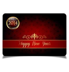Red new year celebrate card vector