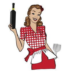 Vintage hostess vector