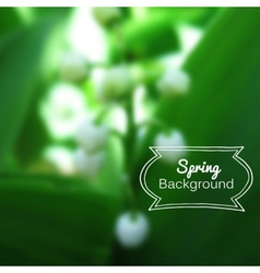 Blurred nature spring green background vector
