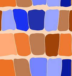 Reptile skin seamless pattern blue and orange vector
