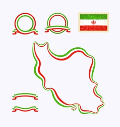 Colors of iran vector