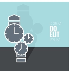 Abstract background with the clock vector