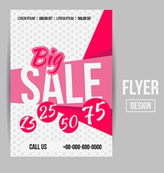 Sale flyer vector