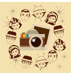 Retro style photograph vector