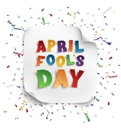 April fools day greeting card vector