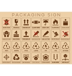Packaging sign or symbols vector