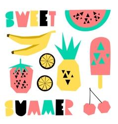 Summer Design Elements vector image