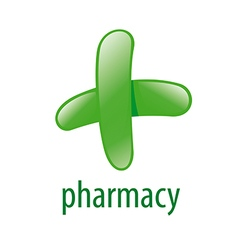 Abstract green logo for pharmacies vector
