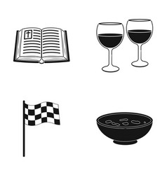 Bible glasses of wine and other web icon in black vector