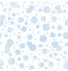 Blue molecules testile texture seamless pattern vector image vector image