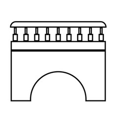 bridge black color icon vector image vector image
