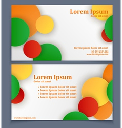 Business card with geometric pattern vector