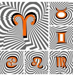 Design set of zodiac icons vector
