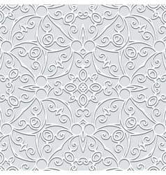 Grey seamless pattern vector image