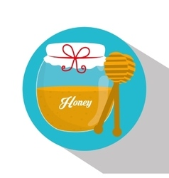 Honey jar design vector