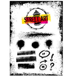 i love street art creative bright poster vector image vector image