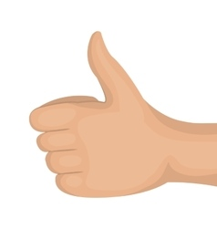 icon hand like gesture back design vector image