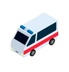 Isometric ambulance icon vector image vector image