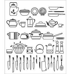kitchen stuff6 vector image