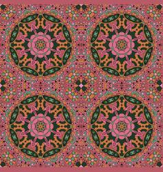Mandala zentangl seamless ornament relax vector