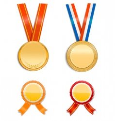 medals and badges vector image vector image