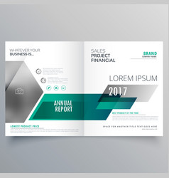 modern bifold brochure template design for your vector image vector image