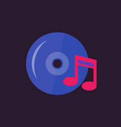 music icon in flat style vector image