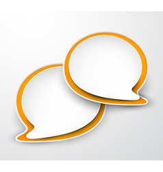 Paper speech bubbles vector image vector image