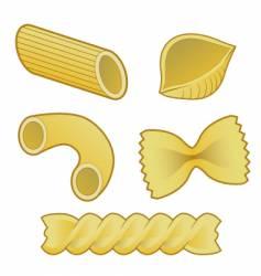 Pasta types vector