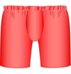 Red mens boxer briefs vector