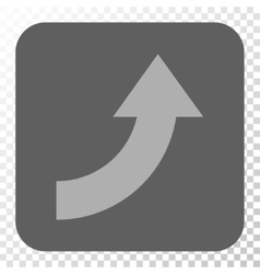 Rotate up rounded square button vector