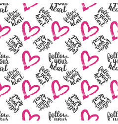Seamless pattern from hearts on white vector