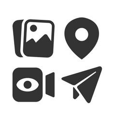 simple social media icon set vector image