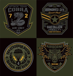Special unit military emblems graphics vector