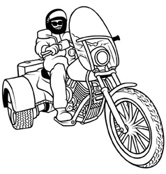 Tricycle And Driver vector image