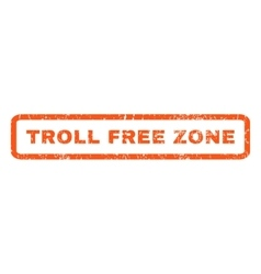 Troll free zone rubber stamp vector