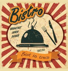 Vintage bistro banner vector