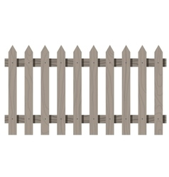 Wooden seamless fence triangular shape isolated vector image vector image