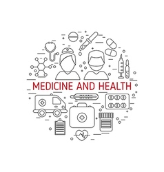 Medical and health concept vector