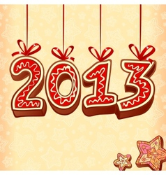 New Year sign 2013 christmas sweets vector image