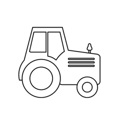 Isolated truck machine design vector