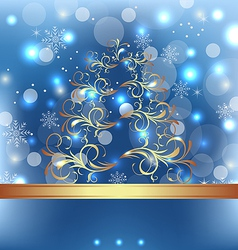Celebration card with abstract christmas floral vector