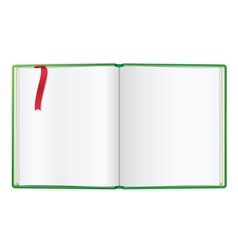 Opened book blank vector